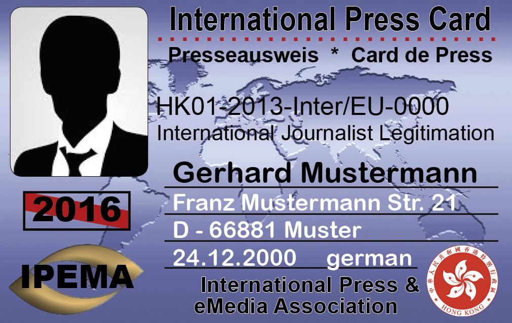 Press card look 1