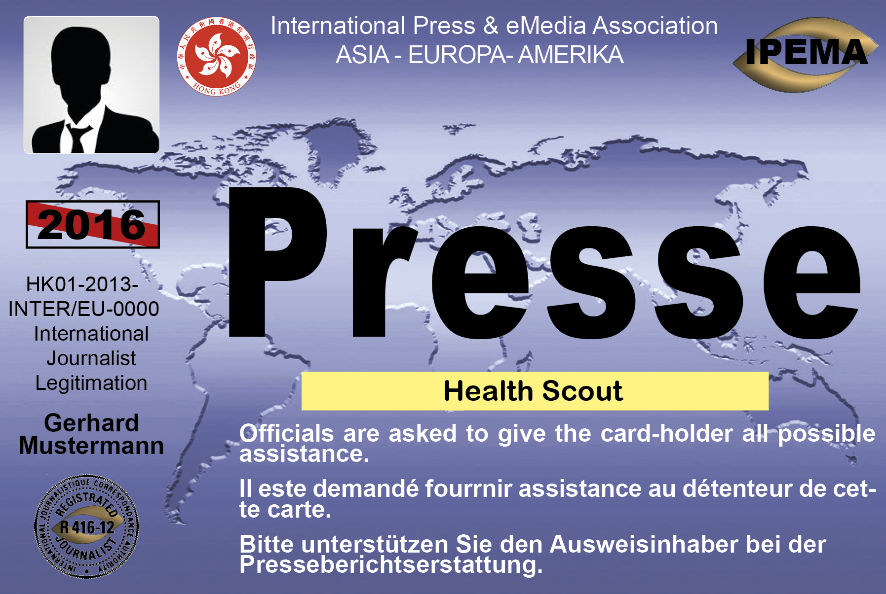 Press card look 8