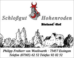 Bioland-Hof Schlossgut Hohenroden